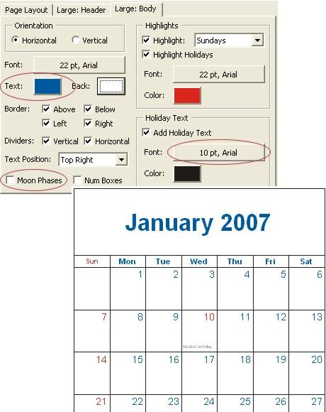 seperti tanggal dan teks liburan. Selain mengurangi ukuran font teks