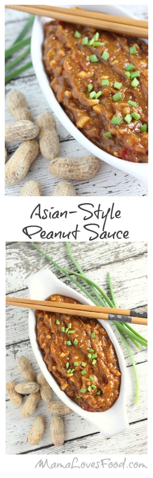 Three Ingredient Asian Style Peanut Sauce