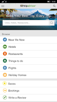 Trip Advisor Universal Windows10 App