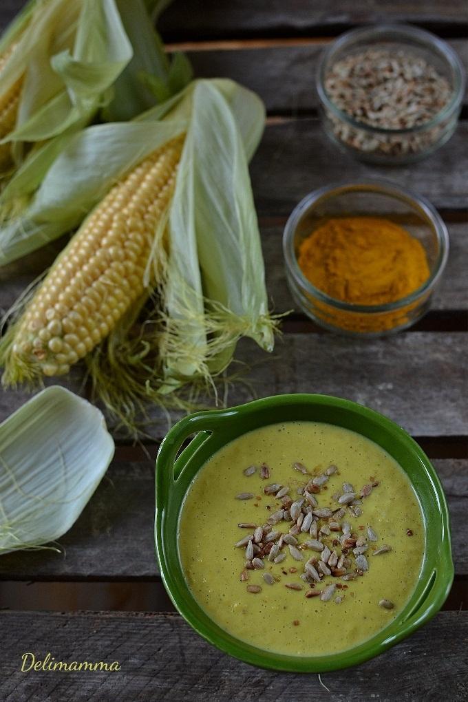 krem kukurydziany z cukinią