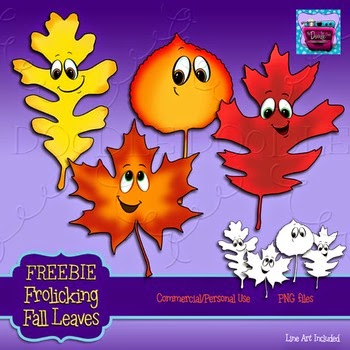 Free Frolicking Fall Leaves