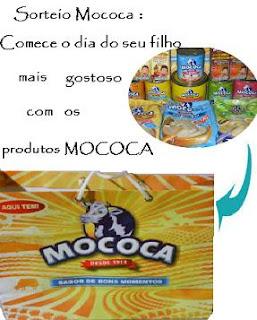 Sorteio: Comece o dia, do seu filho,mais gostoso com os produtos MOCOCA
