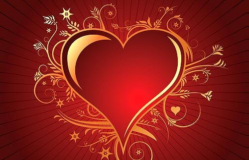 Elegante corazón