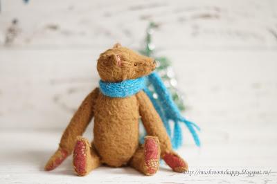 зима, медведи, тедди, winter, teddy bears, New Year, ёлки