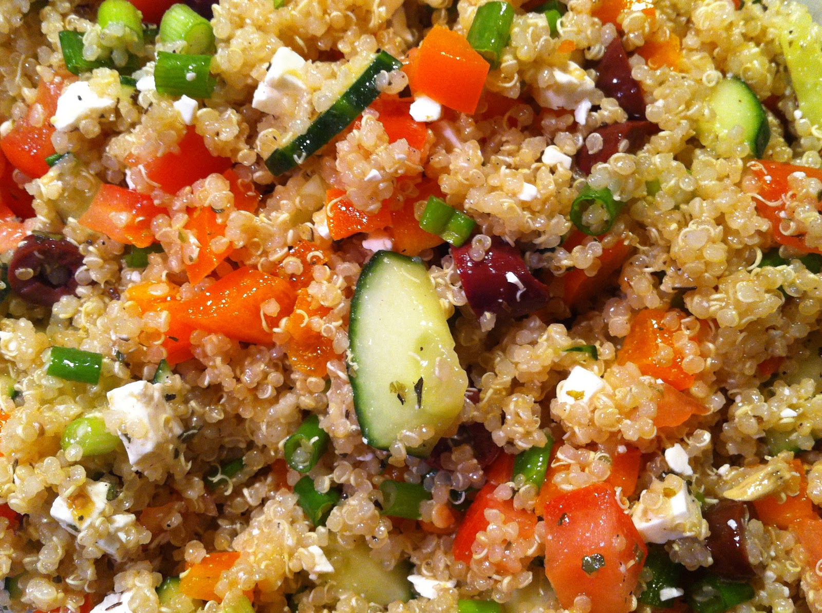 Playing With My Food!: Greek Quinoa Salad