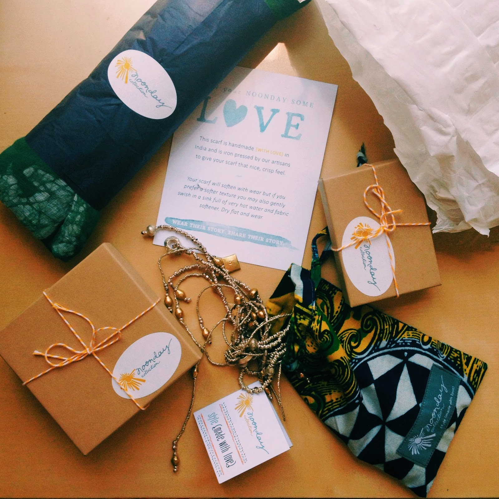 Noonday Collection packaging fair trade jewelry