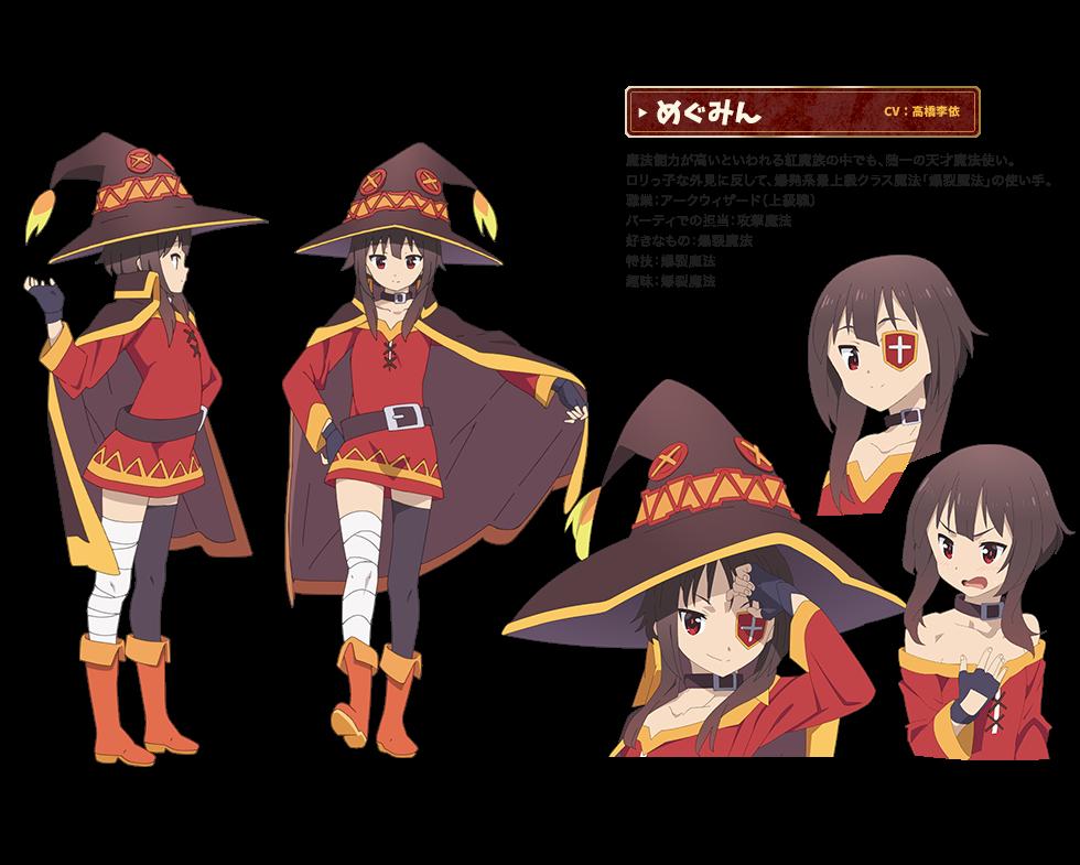 RENDER Konosuba (Kono Subarashii Sekai ni Shukufuku wo!),  + Megumin