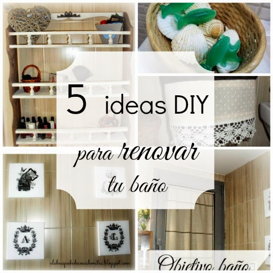 Ideas Para Decorar El Baño Con Manualidades:Cinco ideas DIY para renovar tu baño Manualidades / General