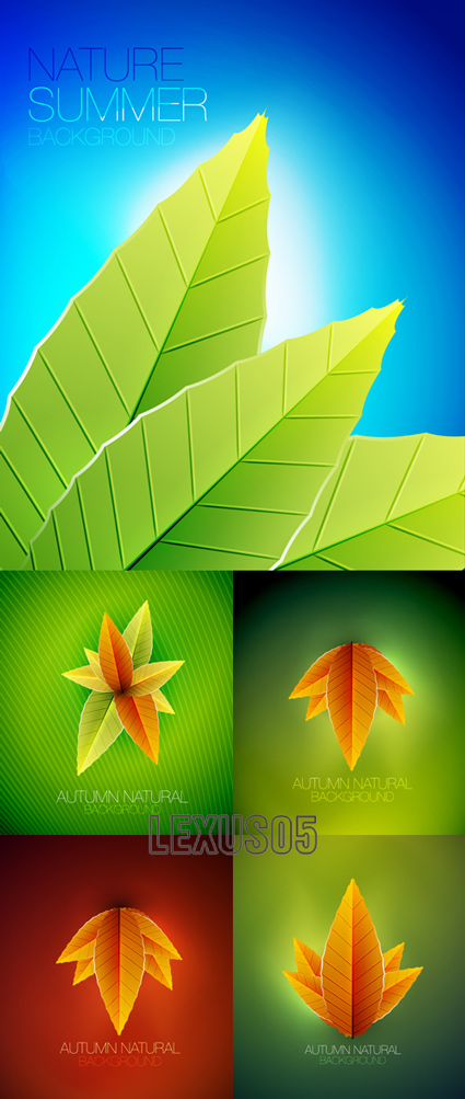 Autumn Natural - Vector Backgrounds