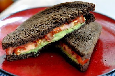 Avocado and Tomato Sandwiches - Photo by Taste As You Go