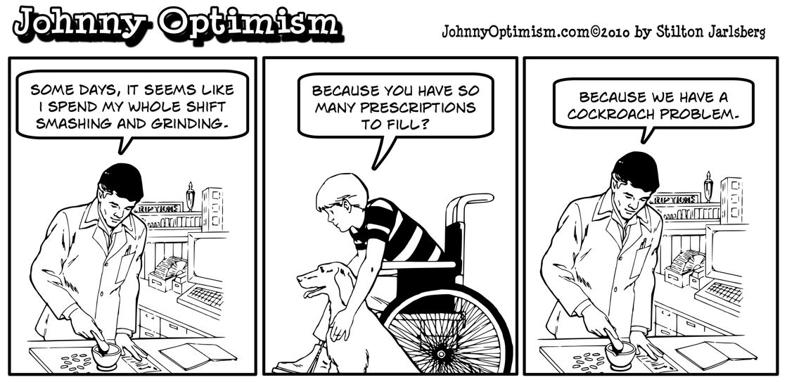 Johnny Optimism, johnnyoptimism, pharmacist