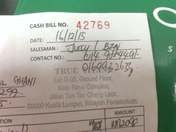 Handphone yang dikatakan RM800 tiba-tiba jadi RM3100
