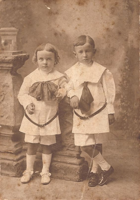 Unknown boys in collection of Helen Killeen Parker photographed by Campbell Studios in Norfolk, Virginia