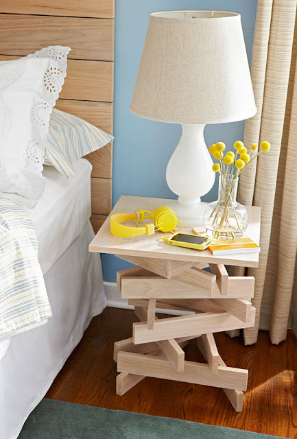 lowes stack table, diy wood stack table, diy beside table, diy table