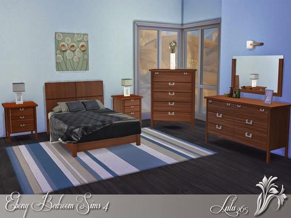 my sims 4 blog lulu265 39 s ebony bedroom sims 4