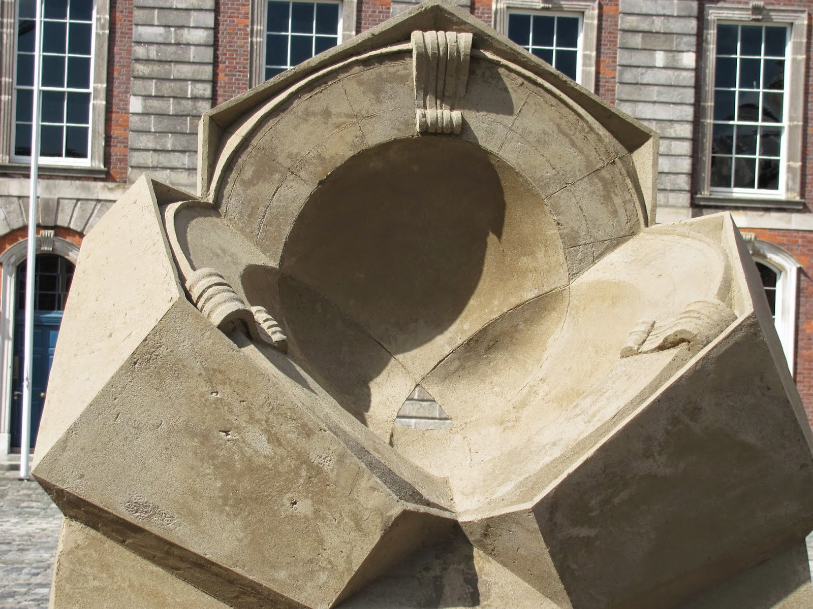 A piece at Dublin Castle Sand Sculptures 2014