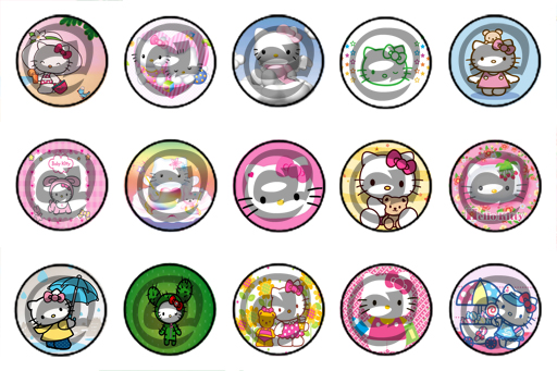 Unique bottle cap designs hello kitty bottle cap design v2 for Cool bottle cap designs