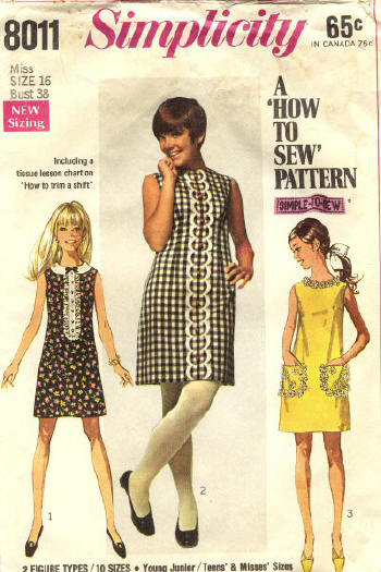 1960s mod vintage scooter dress pattern Just Peachy, Darling