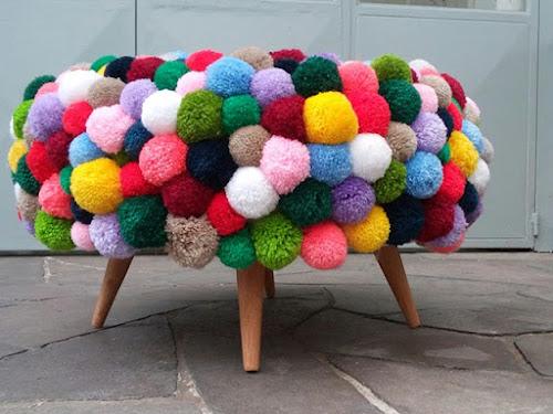 DIY com Pompons de Lã e Inspiração