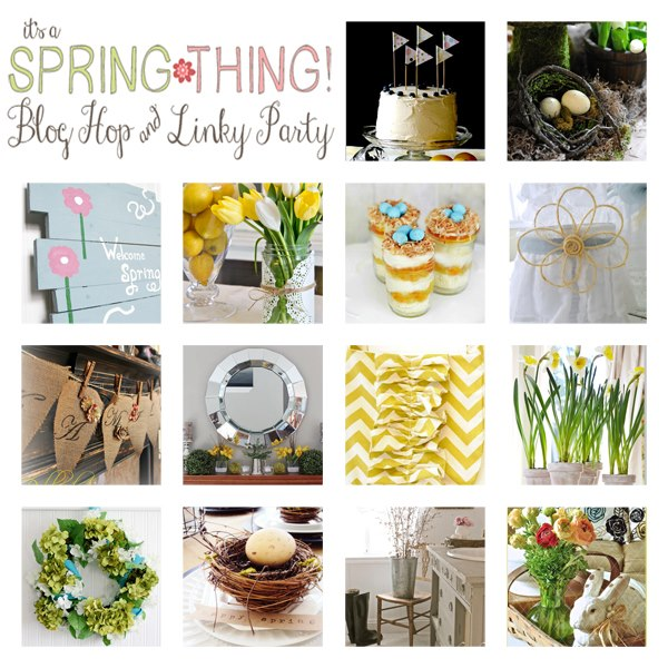 14 Fabulous Ideas for Spring, from home decor to crafts to recipes - and a Spring Linky Party with nearly 500 links!