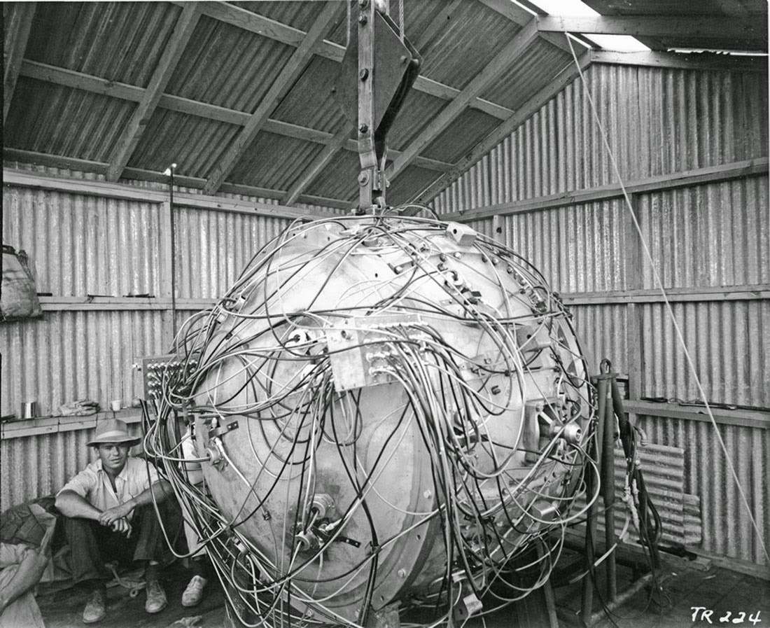 The first atomic bomb, the Gadget, 1945
