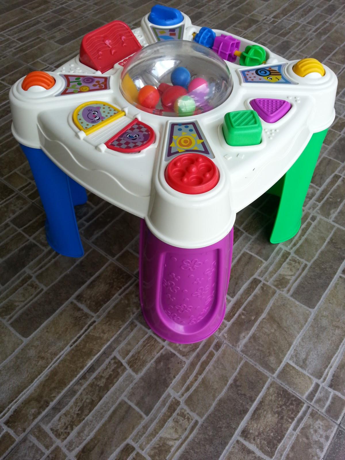 Joys of toy baby stuff preloved fisher price activity table - Table activite fisher price ...