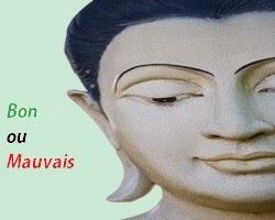 Visage Bouddha Bon Mauvais