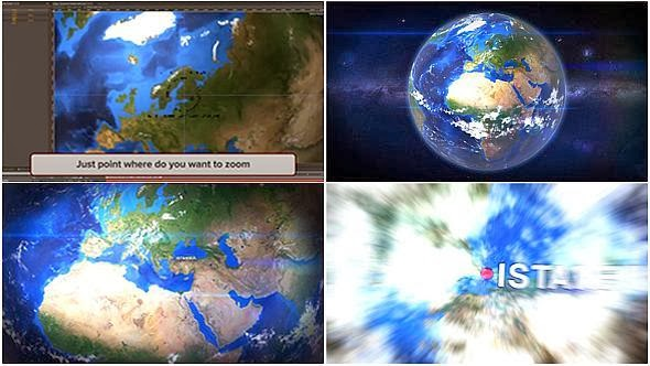 VideoHive Earth Zoom Customize