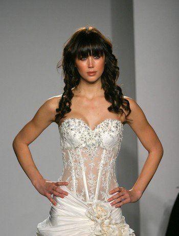 Admirable Lace Wedding Dresses Sheer Bodice