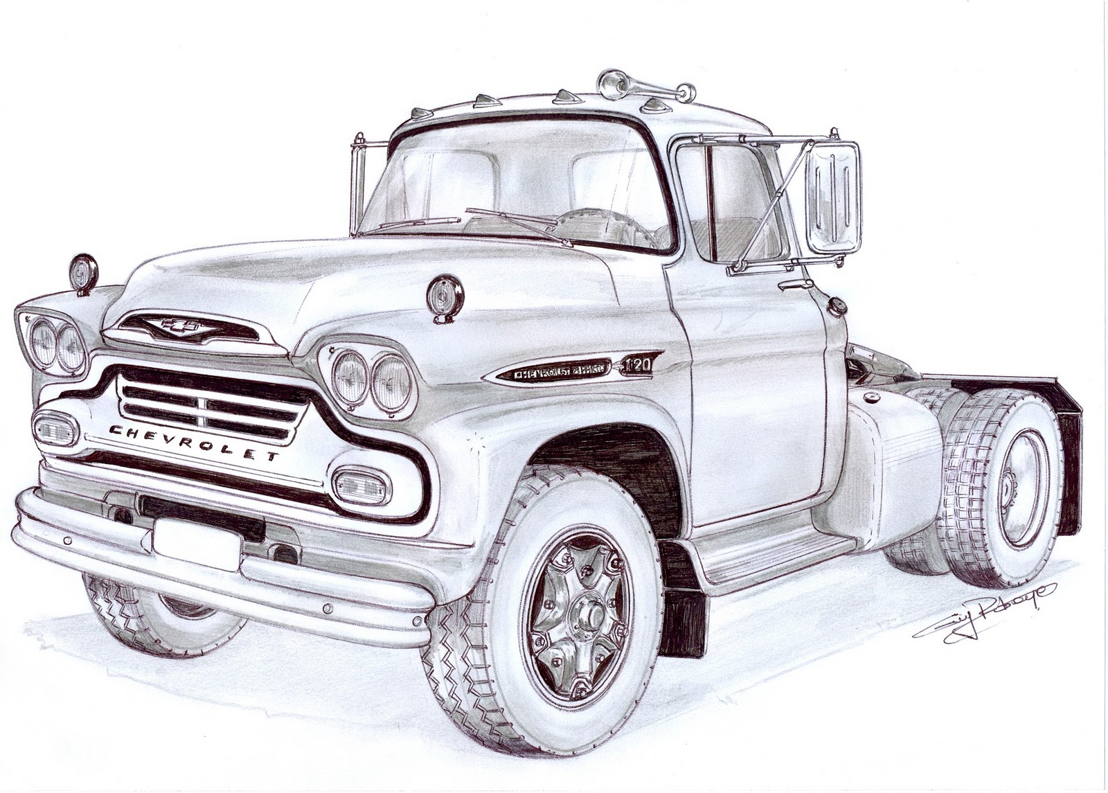 Classic Chevy Mentor >> Pictures Of Classic Chevy Truck Drawings Rock Cafe