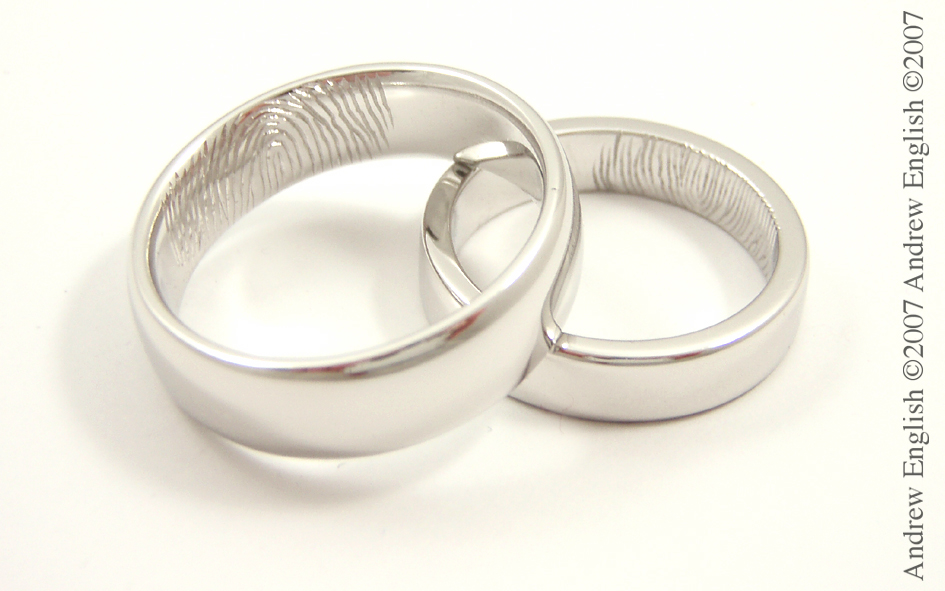 Fingerprint Wedding Rings on Wedding Rings With You And Your Partners Fingerprints In Them
