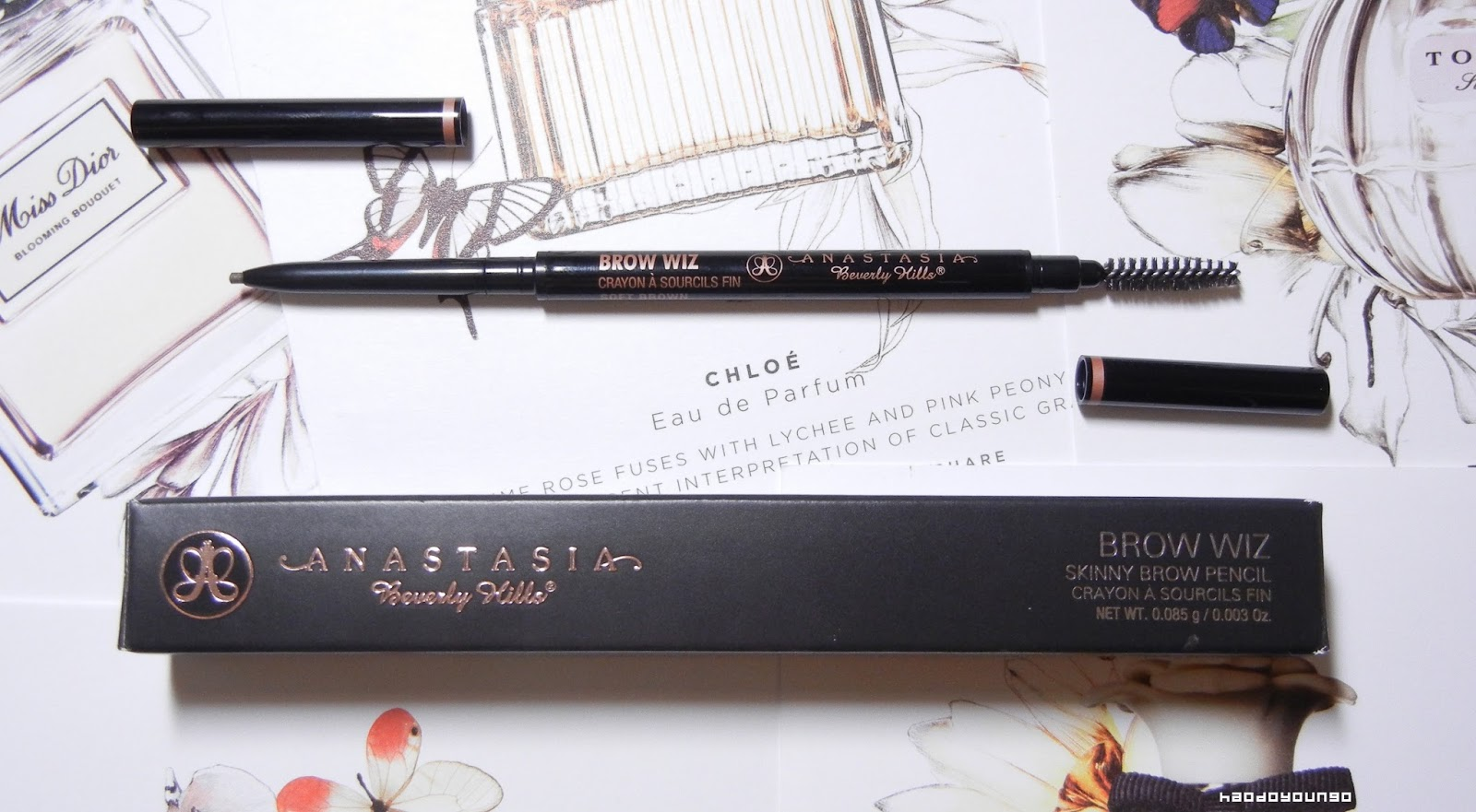 Review Swatches Anastasia Brow Wiz Skinny Brow Pencil In Soft