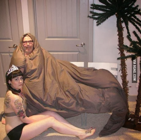 Cosplay Fail de Jabba y Leia