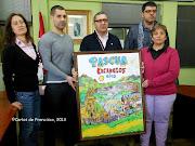 Alcalde y concejales durante la presentación de Pascua 2013 pascua