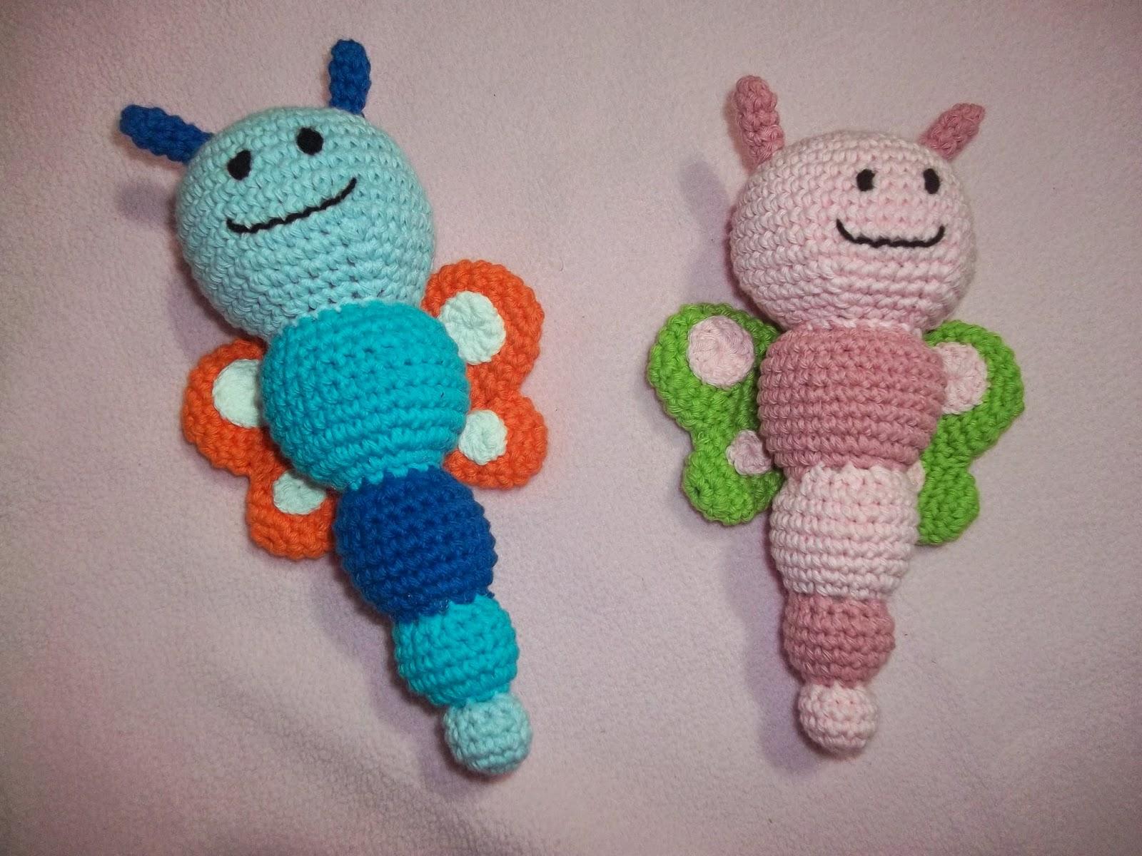 Excelente Patrón De Crochet Libre De Mariposa Ornamento - Ideas de ...