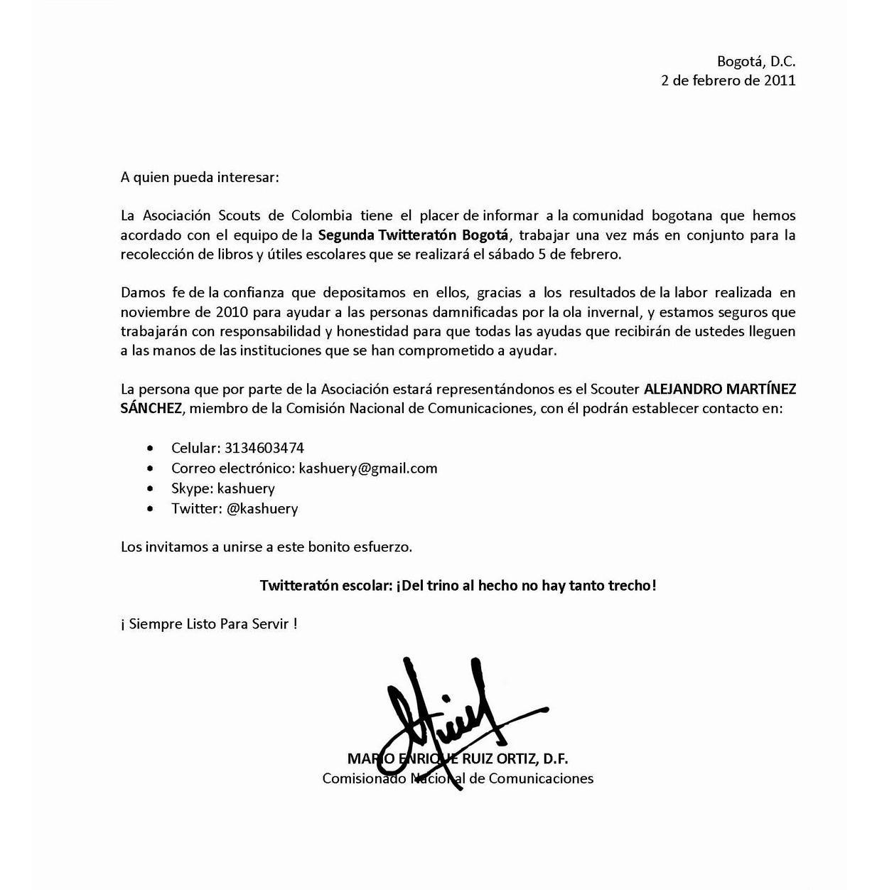 Modelo De Carta A La Embajada De Usa Para Solicitar La Visa