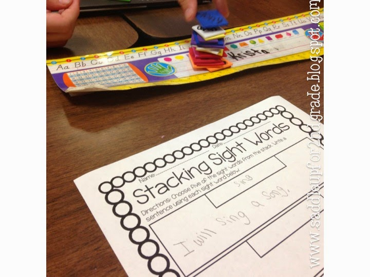 Sight Word Stacking FREEBIE by Saddle Up For 2nd Grade