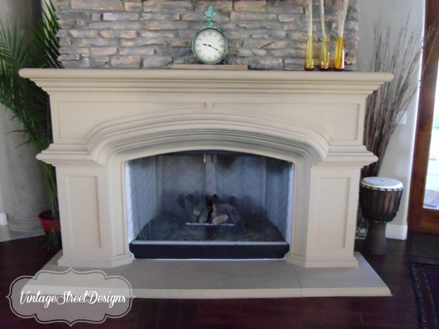 3 Fireplace Mantel Makeovers using Chalk Paint & Wax