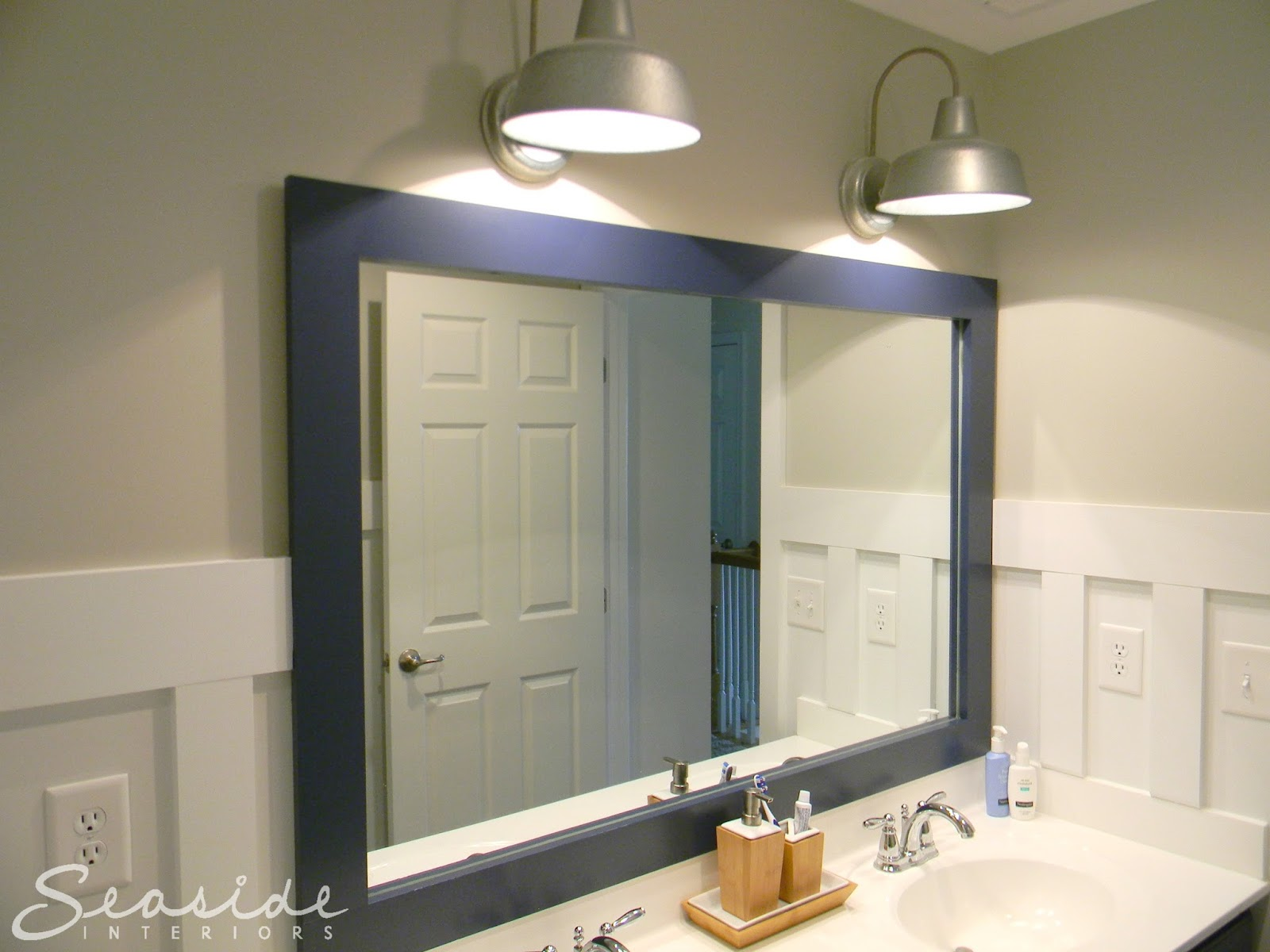 Nautical Bathroom Light Fixture: Seaside Interiors: Kids Nautical Bathroom Reveal