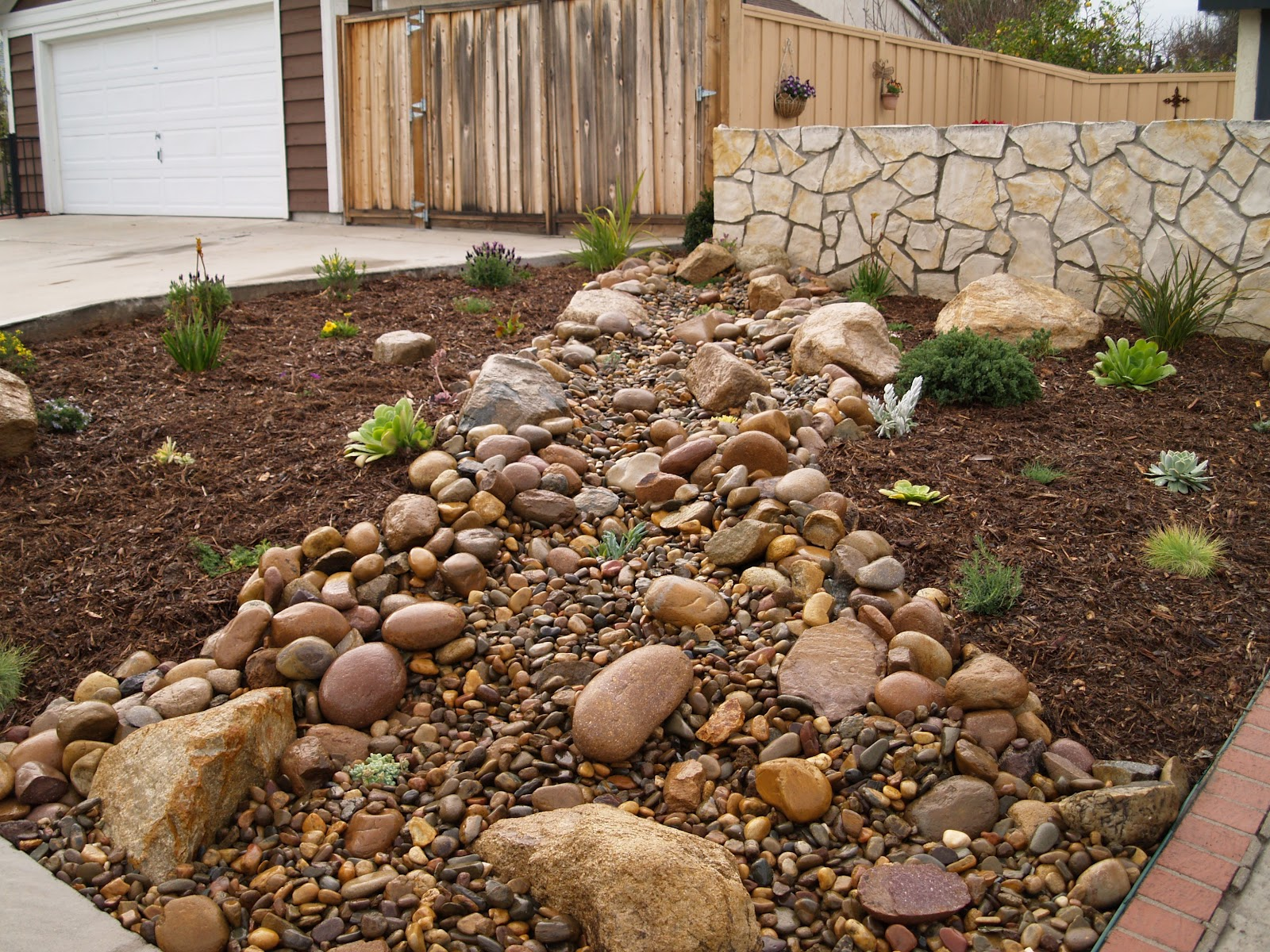 Landscaping With Stone Mulch Pictures : Glorious gardens hardscape vs softscape in landscaping
