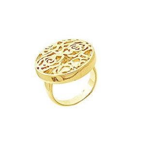 anel folheado a ouro 18k