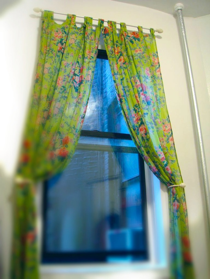Green floral curtains from Modcloth