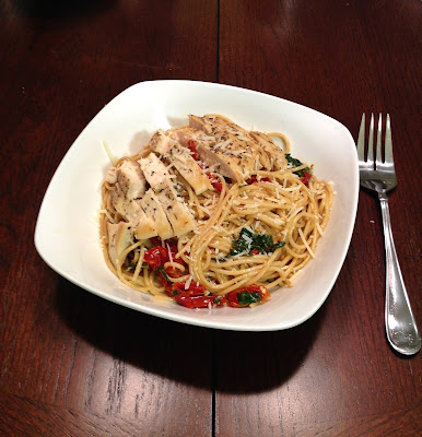 spinach chicken pasta