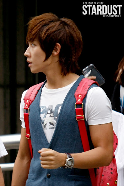 MBLAQ Lee Joon with MCM backpack