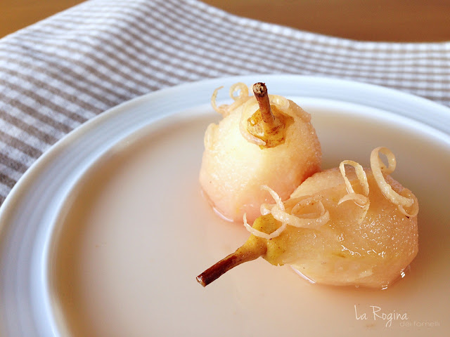 Pere cotte al limone