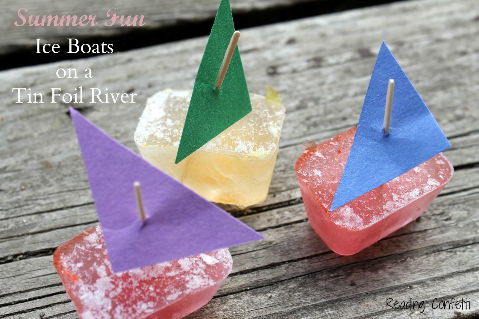 My ... & Tin Foil River and Mini Ice Boats ~ Reading Confetti