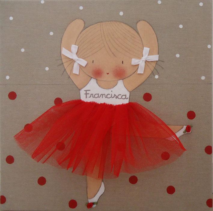 Cuadros personalizados cuadros infantiles bailarinas - Cuadros bailarinas infantiles ...