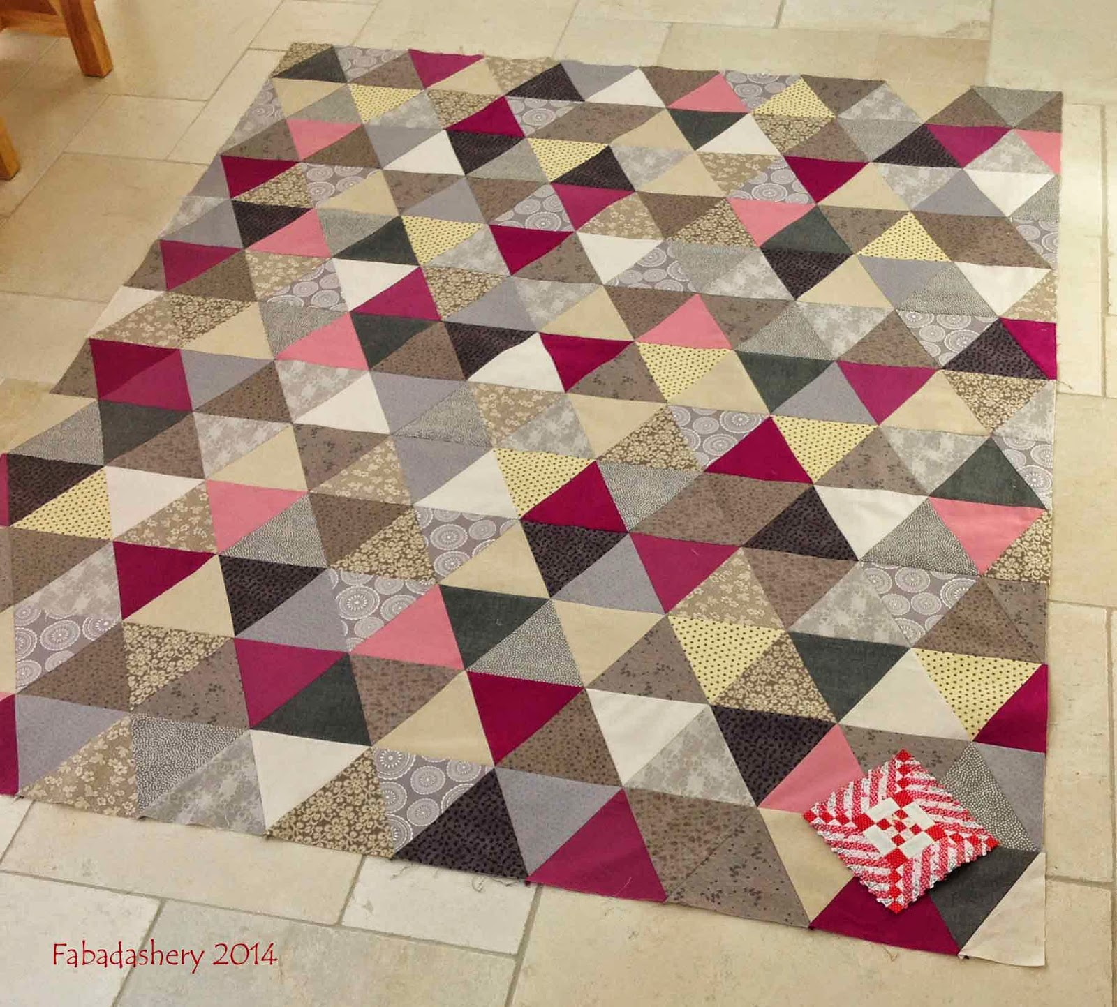 Equilateral Triangle Quilt compared to Nearly Insane Quilt block