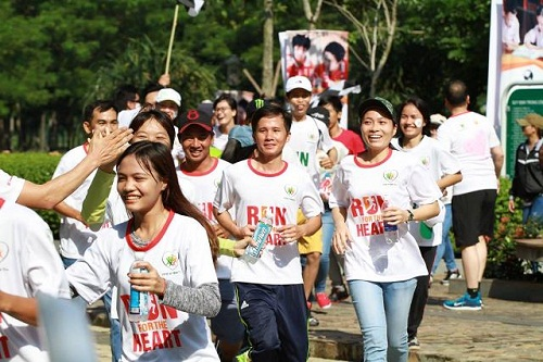 thi chạy tại công viên yên sở gamuda city
