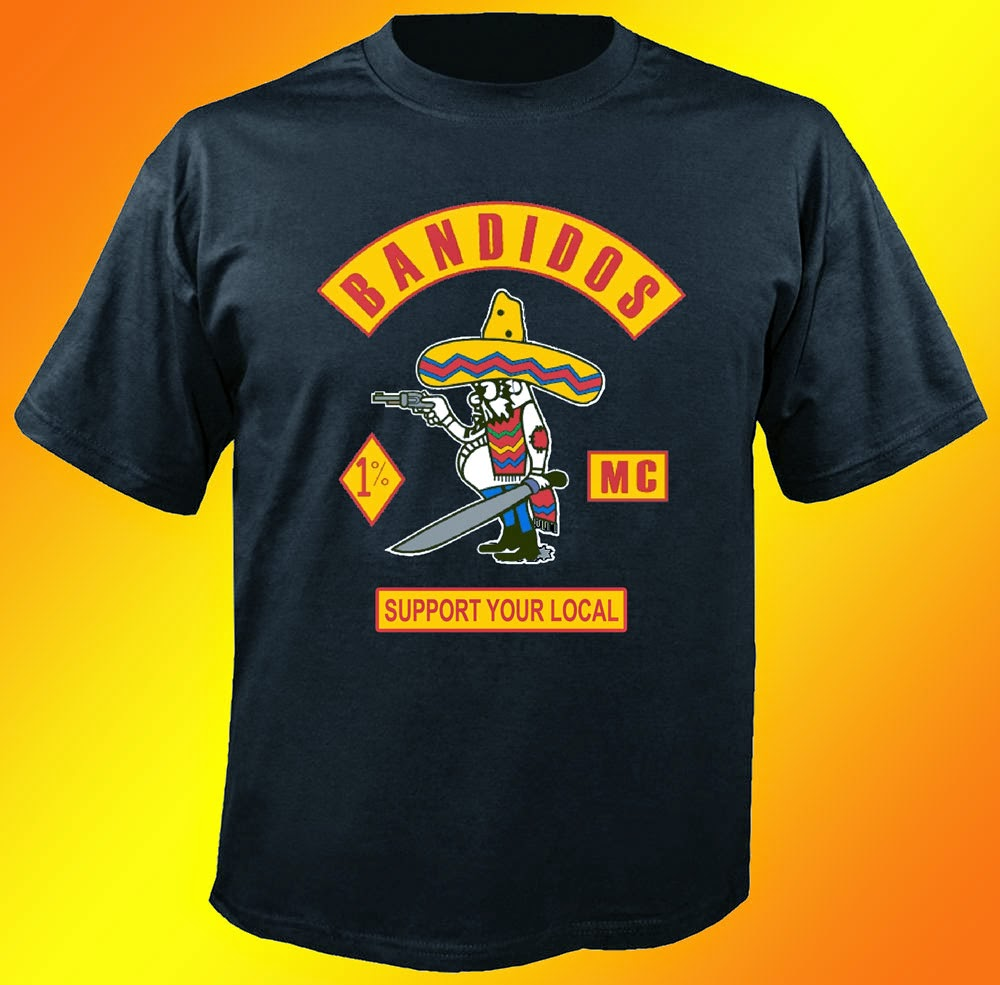 Bandidos  Support Your Local Black T-shirt 1 Side